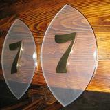 ホテルの壁部屋の金属のステンレス鋼の電気めっきの屋家番号の印のDoorplate