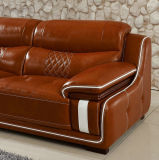 Européen de Haute Qualité Top Grain Leather Sofa Furniture (A15)