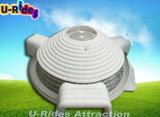 Круглый большой белый надувной светодиодный светильник для шоу или зала с тремя дверьми