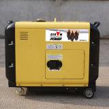 Generador silencioso portable refrigerado del diesel 5000W de la fábrica BS6500dsea 5kVA 5kw del OEM del bisonte (China) pequeño para el uso casero