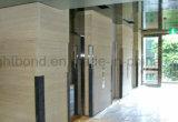 Panneau en pierre blanc de nid d'abeilles de travertin pour la décoration mur d'intérieur/intérieur