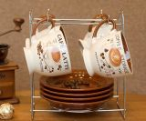 卸し売り石器の元の艶をかけられたコーヒー・マグ