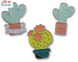 Aleación de zinc forma Cactus personalizado insignia de solapa