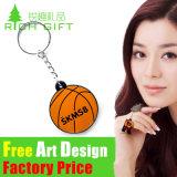 Оптовый PVC Keychain футбола/баскетбола сувенира форменный для подарка спорта