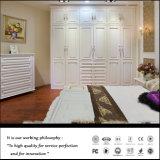 Guardaroba di alta qualità con il portello bianco del PVC di colore (ZH4001)