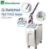 Laser de médico de cuidados da pele remoção do pigmento da máquina Q-Interruptor ND YAG Laser tatuagem extracção