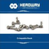 歯科矯正学のアクセサリのセリウムが付いている長いCrimpableのホック