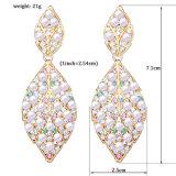 2017 nuevos diseños Wedding los pendientes baratos de la perla de la CZ de los accesorios de la novia de cobre amarillo del espárrago