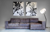 De Zwart-witte Abstracte Olieverfschilderijen van uitstekende kwaliteit van de Kunst van het Canvas voor Decoratie