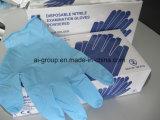 Blaue Nitril-Schutz-Wegwerfhandschuhe für medizinischen Gebrauch