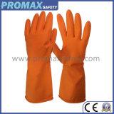le ce orange de gants de ménage de latex rayé par bande du jet 50g a reconnu
