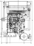 発電機セットのためのSAE3# 135horse力のディーゼル機関