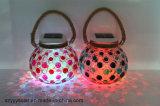 LED-Dekoration-Waren zur Innenausstattungherrliches Solarsun-Glas-Vasen-Licht