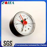 Mini medidores de pressão Manómetros caixa de plástico traseira ou inferior Montagem com Pointer ajustável Red