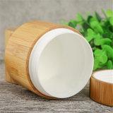 Rundes Plastiksahnebambusglas für das kosmetische Verpacken