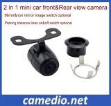 Alta resolução 2 em 1 câmera de ré 170 Graus Backup Vista traseira carro câmara de marcha 12V