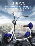 motocicleta elétrica pequena de Harley das rodas de 48V 800W Citycoco dois