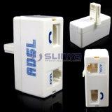 Filtro in-linea Rj11 del filtrante del ADSL del modem del BT Rj11 dal telefono BRITANNICO a banda larga del telefono micro