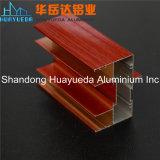 Profil en aluminium de peinture du bois des graines pour faire les portes et le guichet