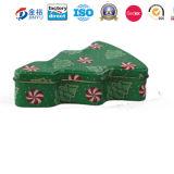 De douane Afgedrukte Doos van het Tin van de Verpakking van de Gift van het Metaal van de Vorm van de Kerstboom
