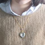 중국 공급자 발렌타인을%s 큰 모조 다이아몬드 심혼 형식 목걸이