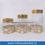 4PCS Geometric Design Knell Canister Set, Knell Gravel bank for Food