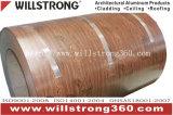 0,21 mm du grain du bois de la bobine en aluminium prélaqué