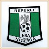 Etiqueta impressa correção de programa tecida logotipo personalizada da correção de programa das equipas de futebol de Nigéria