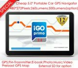 Navigation GPS GPS portable de 5,0 po avec Tmc Bluetooth AV-in ISDB-T TV