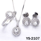 Ювелирные изделия установили серебряный Jewellery. захвата CZ Costume 925