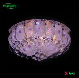 Lámpara de techo de cristal de cristal redondo lámpara de techo de vidrio para muebles