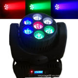 7X12W RGBW 4-en-1 LED Étape Effet Lumière tête de déplacement du faisceau