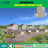 Casa prefabricada de lujo contemporánea del panel de emparedado del cemento de la espuma