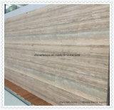 銀製灰色のバッフルの灰色の木のTravertineの平板