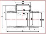 Te recta del conector de la instalación de tuberías de la presión del PVC del estruendo Pn1.0