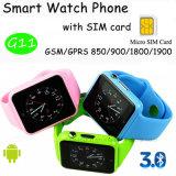 Téléphone intelligent imperméable à l'eau de montre de Bluetooth avec la fente de carte SIM (G11)