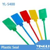 Sellos de seguridad de etiqueta de plástico con gran área de marcado (YL-S400)