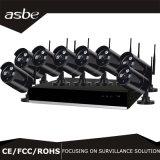 el punto negro sin hilos 1080P del IP 8CH se dirige el kit de la cámara del equipo de la seguridad del CCTV