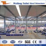 クレーン構造図デザインの大きいスパンライト鉄骨構造の建物の倉庫