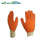 Chemise de verrouillage 3/4 latex enduits de finition ondulée Poignet tricoté rugueux des gants