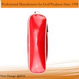Saco de sapatos de golfe vermelho brilhante PU