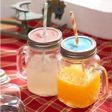 무료 샘플 축제 사용 16oz 석수 뚜껑을%s 가진 유리제 단지 /Drinking 유리