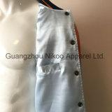 단추를 가진 환상적인 형식 동향 자수 호랑이 공단 재킷