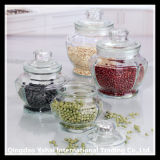 3L semina la bottiglia di vetro con il coperchio di vetro/vaso di vetro ovale