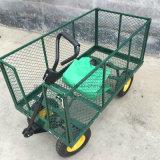 Курган колеса тележки 4 садовничая инструмента фермы с подкладкой