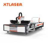 Precio 500W 1000W 2000W de la cortadora del laser de la fibra del metal de hoja