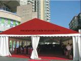 Tenda rossa impermeabile personalizzata del partito di evento della tenda foranea di cerimonia nuziale della tela di canapa