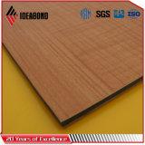 ACP en bois des graines PVDF d'enduit extérieur diplômée par CTC de la Chine (2mm-6mm)