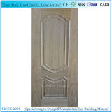 Okoumeのベニヤが付いている2つの凸面ラインか上げられた形成されたドアの皮