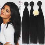 7A Uvas 100% natural Tecelagem de fio de cabelo humano Virgem reta e sedosa na extensão de cabelo